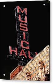 Music Hall Sign Acrylic Print