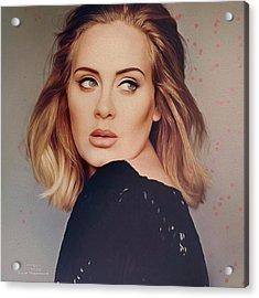 Music Icons - Adele Iv Acrylic Print