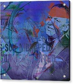 Music Icons - Frank Sinatra Iv Acrylic Print