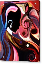 Music In The Air Acrylic Print by Karen Showell