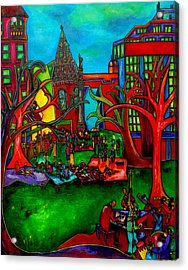 Music In The Park Acrylic Print by Patti Schermerhorn