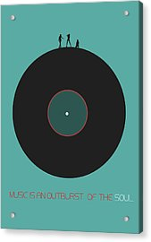 Music Is An Outburst Of The Soul Poster Acrylic Print by Naxart Studio