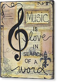Music Is Love Acrylic Print