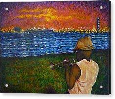 Music Man In The Lbc Acrylic Print