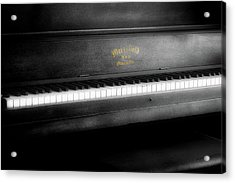 Music Merrifield Vintage Piano Acrylic Print by Thomas Woolworth