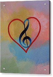 Music Note Acrylic Print by Michael Creese