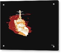 Acrylic Print featuring the digital art Music Notes 11 by David Bridburg