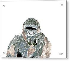 Acrylic Print featuring the digital art Music Notes 23 by David Bridburg