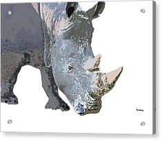 Acrylic Print featuring the digital art Music Notes 24 by David Bridburg