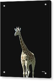 Acrylic Print featuring the digital art Music Notes 32 by David Bridburg