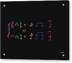 Acrylic Print featuring the digital art Music Notes 35 by David Bridburg