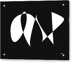 Acrylic Print featuring the digital art Music Notes 9 by David Bridburg