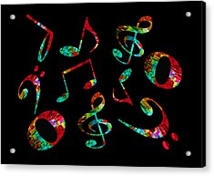 Music Notes Acrylic Print
