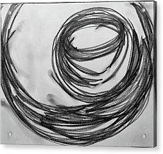 Music Sketch Study Leon Bridges Acrylic Print