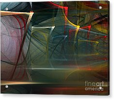 Acrylic Print featuring the digital art Music Sound by Karin Kuhlmann