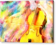 Music To My Eyes Acrylic Print by Jennifer Allison