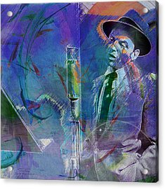 Music Icons - Frank Sinatra I Acrylic Print