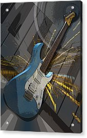 Musical Poster Acrylic Print by Brian Roscorla