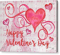 Musical Valentine Acrylic Print