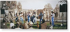 Musicians And The Impromptu Tenor Acrylic Print