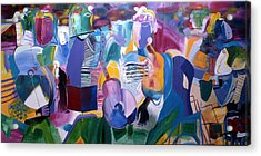 Musicians Acrylic Print by Sima Amid Wewetzer
