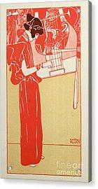 Musik Acrylic Print by Gustav Klimt