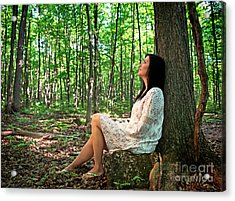 Acrylic Print featuring the photograph Musing.. by Nina Stavlund