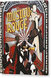 Musique Rouge Acrylic Print by Lori McPhee