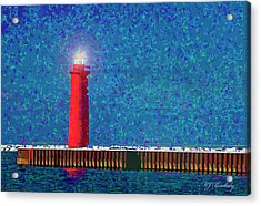 Muskegon Lighthouse Acrylic Print by Marti Buckely