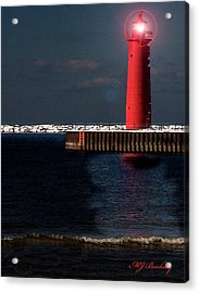 Muskegon Mi Lighthouse Acrylic Print by Marti Buckely