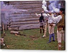 Musket Fire - 1 Acrylic Print by Randy Muir
