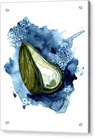 Mussel Shell Acrylic Print by Paul Gaj