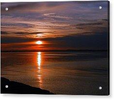 Musselburgh Sunset Acrylic Print by Nik Watt