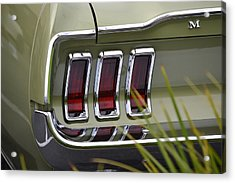 Mustang Fastback In Green Acrylic Print