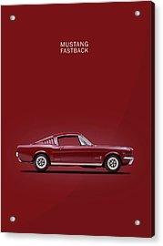 Mustang Fastback Acrylic Print by Mark Rogan