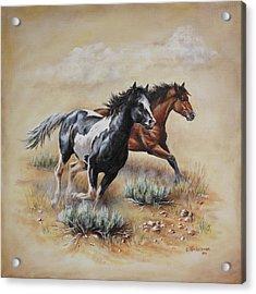 Mustang Glory Acrylic Print