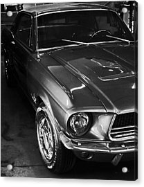 Mustang In Black And White Acrylic Print