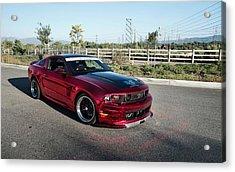 Mustang Racing Car Acrylic Print
