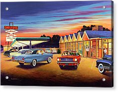 Mustang Sally - Shelton's Diner 2 Acrylic Print