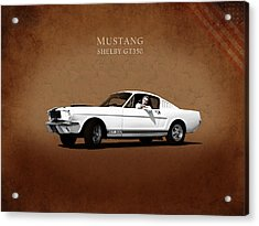 Mustang Shelby Gt 350 Acrylic Print by Mark Rogan