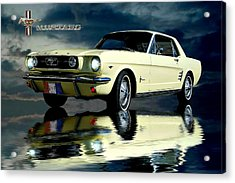 Acrylic Print featuring the photograph Mustang by Steven Agius