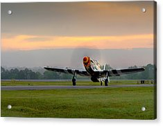 Mustang Sunrise Acrylic Print
