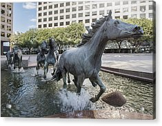 Mustangs Of Las Colinas Sculpture In Irving Texas Acrylic Print