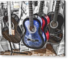Muted Guitars Acrylic Print