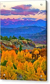 Muted Sunset Colors Of Autumn Acrylic Print