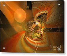 Mutual Respect - Abstract Art Acrylic Print by Sipo Liimatainen