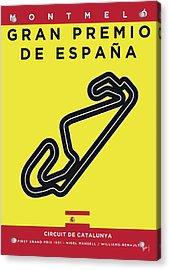 My 2017 Gran Premio De Espana Minimal Poster Acrylic Print