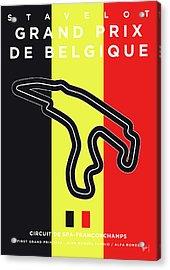My 2017 Grand Prix De Belgique Minimal Poster Acrylic Print