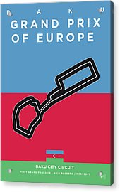 My 2017 Grand Prix Of Europe Minimal Poster Acrylic Print