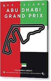 My Abu Dhabi Grand Prix Minimal Poster Acrylic Print